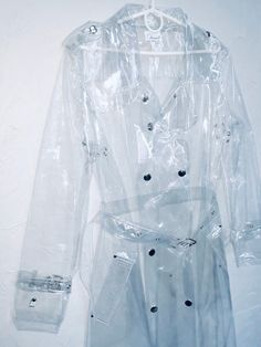 Excited to share this item from my shop: Long Woman's Transparent Trench Coat. Ladies Vinyl Clear Raincoat with no trim. Clear Raincoat, Vinyl Raincoat, Plastic Raincoat, Transparent Raincoat, Mens Rain Jacket, Leather High Heel Boots, Harajuku Fashion, Punk Fashion, Moda Masculina