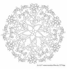 Mandala 225.Mandala. Mandala para pintar flores. Mandala for painting. Mandala of coloring flowers