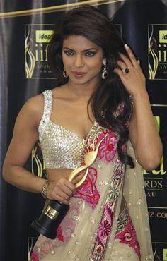 "Bollywood Actress & Miss India Priyanka Chopra from movie ""Fashion"" Actress Priyanka Chopra, Bollywood Actress, Miss India, Film Awards, Indian Attire, Wedding Attire, New York Fashion, Indian Beauty, Indian Actresses"