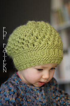 Ravelry: Pomme pattern by Ekaterina Blanchard- I wish I could knit something like this but it's beyond my knitting skills. Knitting For Kids, Baby Knitting Patterns, Loom Knitting, Knitting Projects, Crochet Projects, Crochet Baby Hats, Knit Or Crochet, Crochet For Kids, Knitting Tutorials