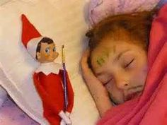 Elf on the shelf got into my face painting kit....- love this one!!!