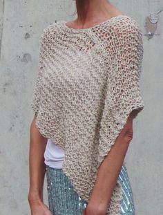poncho beige Poncho de Alpaca de la mujer poncho por ileaiye