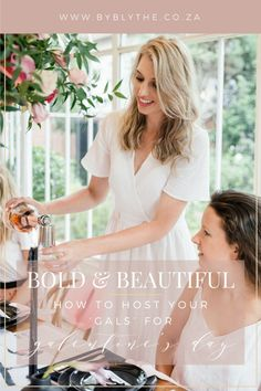 Bold and Beautiful: How to host your 'Gals' for Galentines Day Your Girlfriends, Party Favors, Celebrities, Lady, Friendship, Beautiful, Table, Blog, Fun