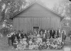 """""""Sunday school, Indians and white[s]."""" Indian Territory [Oklahoma], ca. 1900. 48-RST-5B-10"""