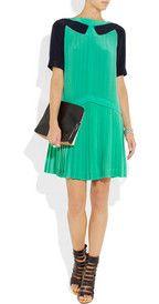 Victoria, Victoria BeckhamPleated silk-crepe mini dress
