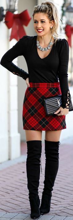 Great plaid skirt