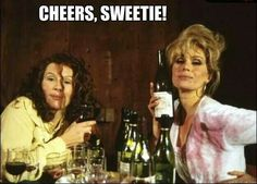 Ab fab wine tasting. Best scene ever!