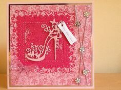 card using tattered lace die