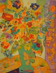 ❀ Blooming Brushwork ❀ - garden and still life flower paintings - Marilo Carral