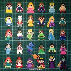 Disney characters perler beads