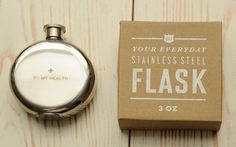 who doesn't need a flask?!  My gma used to carry a small one - just to 'wet her throat'.  Yeah, gma!