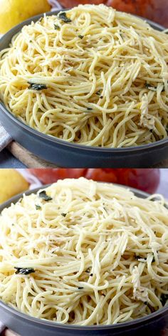 This super easy Lemon Spaghetti recipe is light, refreshing, and full of flavor. Perfect for lunch or dinner. The family will flip over this recipe. all about pasta recipes Lemon Spaghetti, Lemon Pasta, Pasta Recipes With Spaghetti Noodles, White Spaghetti Recipe, Low Fat Pasta Recipes, Basic Pasta Recipe, Light Pasta Recipes, Greek Spaghetti, Angel Hair Pasta Recipes