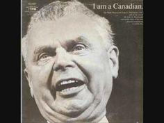 """John Diefenbaker - """"I am a Canadian"""" LP - Side 1"""