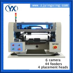 PCB Production Line Small SMT Machines with 6pcs camera and Straight line Guide rail