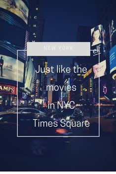 Just like the movies in NYC // Times Square