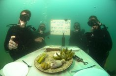 Israel's navy hold's a Passover Seder underwater!