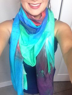 "Modal scarf ""Mi Ventana"" from My VIDA Voices collection!  Graciela Blancarte. #shopvida #fashion #womenfashion #accesories #beautifultextiles #ethicallymade #art @shopvida www.shopvida.com"