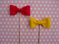 Bowties on a stick for cool photo booth props.  We love using these in our booths at shutterbooth.com