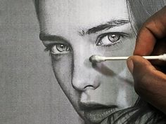 Drawing Pencil Portraits - HOW TO BLEND/SHADE REALISTIC SKIN (NO TIMELAPSE) Discover The Secrets Of Drawing Realistic Pencil Portraits