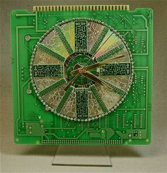 circuit board and cd clock- so cool!
