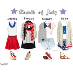 Fourth of July outfit ideas by kay0223 on Polyvore