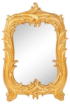 Sought after Dorothy Draper 1940s gold mirror
