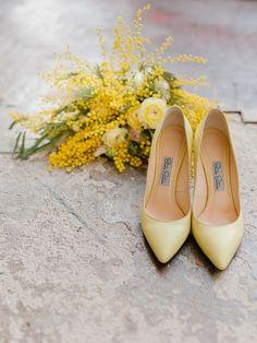 Yellow Mimosa Flowers Inspired Wedding Shoot { Plenty of ideas for Spring brides } Wedding Photoshoot, Wedding Shoot, Wedding Bride, Wedding Bouquet, Wedding Dress, Wedding Stationery Sets, Flower Invitation, Invitation Suite, Spring Wedding Inspiration