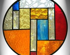 Amber Stained Glass Panel by AfricanSand on Etsy Modern Stained Glass, Stained Glass Designs, Stained Glass Panels, Stained Glass Projects, Stained Glass Patterns, Leaded Glass, Stained Glass Art, Mosaic Glass, Art Nouveau