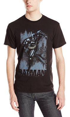 DC Comics Men's Bat In Action T-Shirt, Black, Medium Best Price