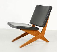 1959 Low Teak Chair Model FB 18   Design: Jan van Grunsven for UMS Pastoe   Combex Series