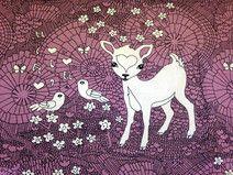 BioJersey Stoff   Deers  lila