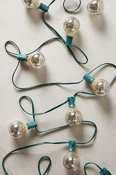Mercury Glass String Lights - anthropologie.com #anthrofave