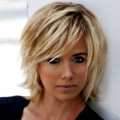 Concave Bob and Shag for Women with Square Face and Fine Hair