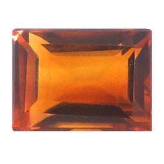 1.05 ct Emerald Cut Citrine Deep Rich Orange -Gold Crane & Co.