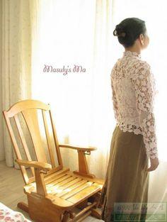 白色拼花美衣 - 有你陪着我是幸福的 - 蕾雨轩