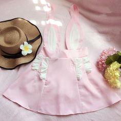 Material:+Cotton+Blend Waist+type:+High+Waist Color:+Pink size:+ Full+length:+80cm Skirt+length:+42cm Waist:78cm,
