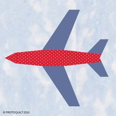 Airplane paper pieced quilt pattern by ProtoQuilt