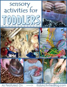 A collection of sensory activities for one year old