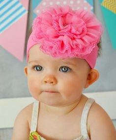 06a581a51c9 Buy Jamie Rae flower headbands for baby girls at SugarBabies Boutique! We  offer many lovely styles including a Candy Pink Soft Headband with Candy  Pink Lace ...