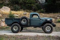The Dodge Power Wagon entered production in 1945 as a slightly more civilized version of the WC-series military trucks made during WWII. Known internally as the the Power Wagon was the first mass-produced medium-duty truck and gained a reputation. Old Pickup Trucks, Dodge Trucks, 4x4 Trucks, Cool Trucks, Dodge Cummins, Chevy Trucks Older, Chevrolet Trucks, Dodge Power Wagon, Dodge Wagon