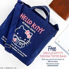 Get a free Hello Kitty denim tote bag with any online purchase of  60 or  more 1b8bfcd8ac4f7