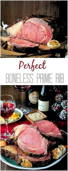You've been cooking prime rib all wrong! Try this reverse-searing method to cook your next boneless prime rib and enjoy evenly cooked juicy slice of roast! Evenly cooked prime rib with an amazing crispy crust – guaranteed! Rib Recipes, Roast Recipes, Dinner Recipes, Cooking Recipes, Game Recipes, Shinee, Rib Roast Recipe, 10 Lb Prime Rib Recipe, Carne Asada