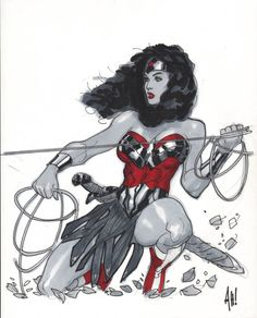 ADAM HUGHES WONDER WOMAN PIN-UP DRAWING, in www. ComicLink.com Original Art Auctions and Exchange's 2012 NOVEMBER FEATURED AUCTION PREVIEW Comic Art Gallery Room
