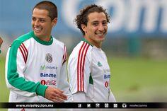 """Javier """"Chicharito"""" Hernandez y Andres Guardado <3 Entrenamiento de la Selección Mayor"""