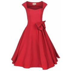 Robe rockabilly rouge grande taille POLYESTER