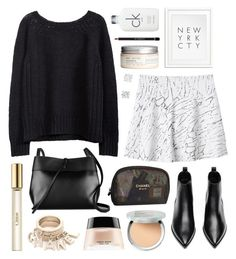 """NEW YRK CTY"" by sophiehackett ❤ liked on Polyvore featuring Monki, Acne Studios, Chanel, Calvin Klein, Kara, H&M, It Cosmetics, Givenchy, Giorgio Armani and Chloé"