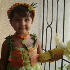 Vegetable fancy dress for kids