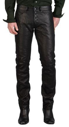 New Men  Soft Stylish Men's Lambskin Genuine Leather Pants Designer Wear  MP10 #HOTLEATHER #CasualPants