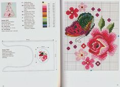 butterfly and flower free cross stitch patterns -- i'm LOVIN this butterfly Cross Stitch Books, Cross Stitch Love, Cross Stitch Designs, Cross Stitch Patterns, Cross Stitch Geometric, Butterfly Cross Stitch, Cross Stitch Flowers, Knitting Charts, Crochet Motif