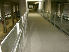 RonaDeck Resin Bonded Seal Coat applied to slip-resistant RonaDeck Resin Bonded Surfacing at #stanstedairport
